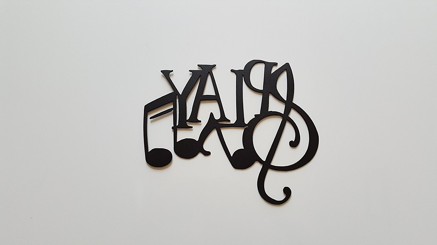 Current Amazon: Play Word And Music Notes Metal Wall Art Decor: Home Throughout Metal Music Notes Wall Art (View 5 of 15)