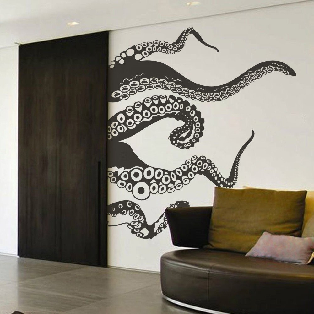 Current Amazon: Tentacles Wall Decal Kraken Octopus Tentacles Wall For Octopus Tentacle Wall Art (View 4 of 15)