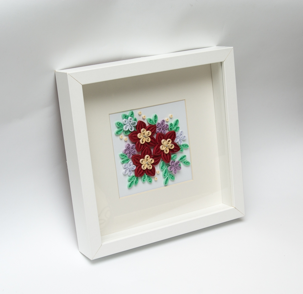 Current Beautiful Modern Home Decoration Framed Quilling Wall Art Red In 3D Wall Art Etsy (View 7 of 15)