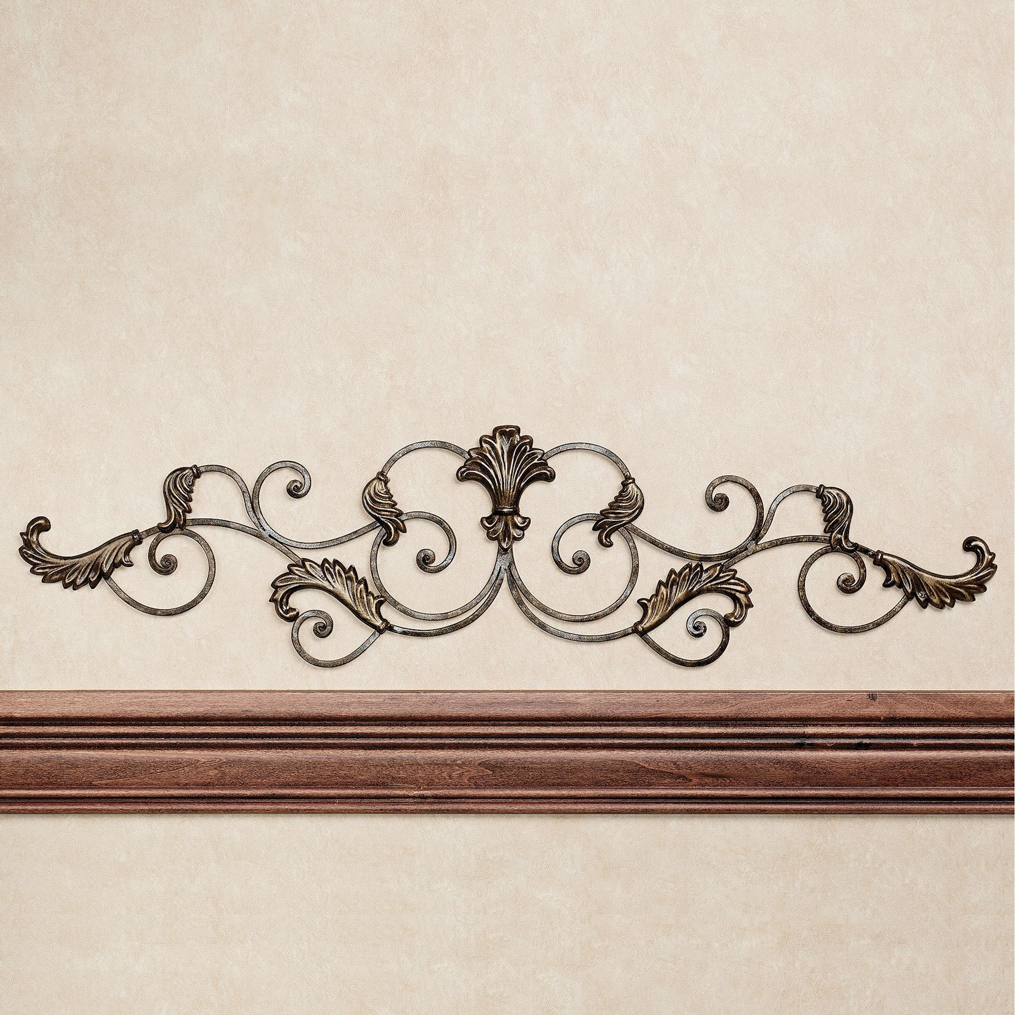Current Bedroom : Scroll Wall Decor Wrought Iron Wall Decor Silver Metal For Italian Silver Wall Art (View 4 of 15)