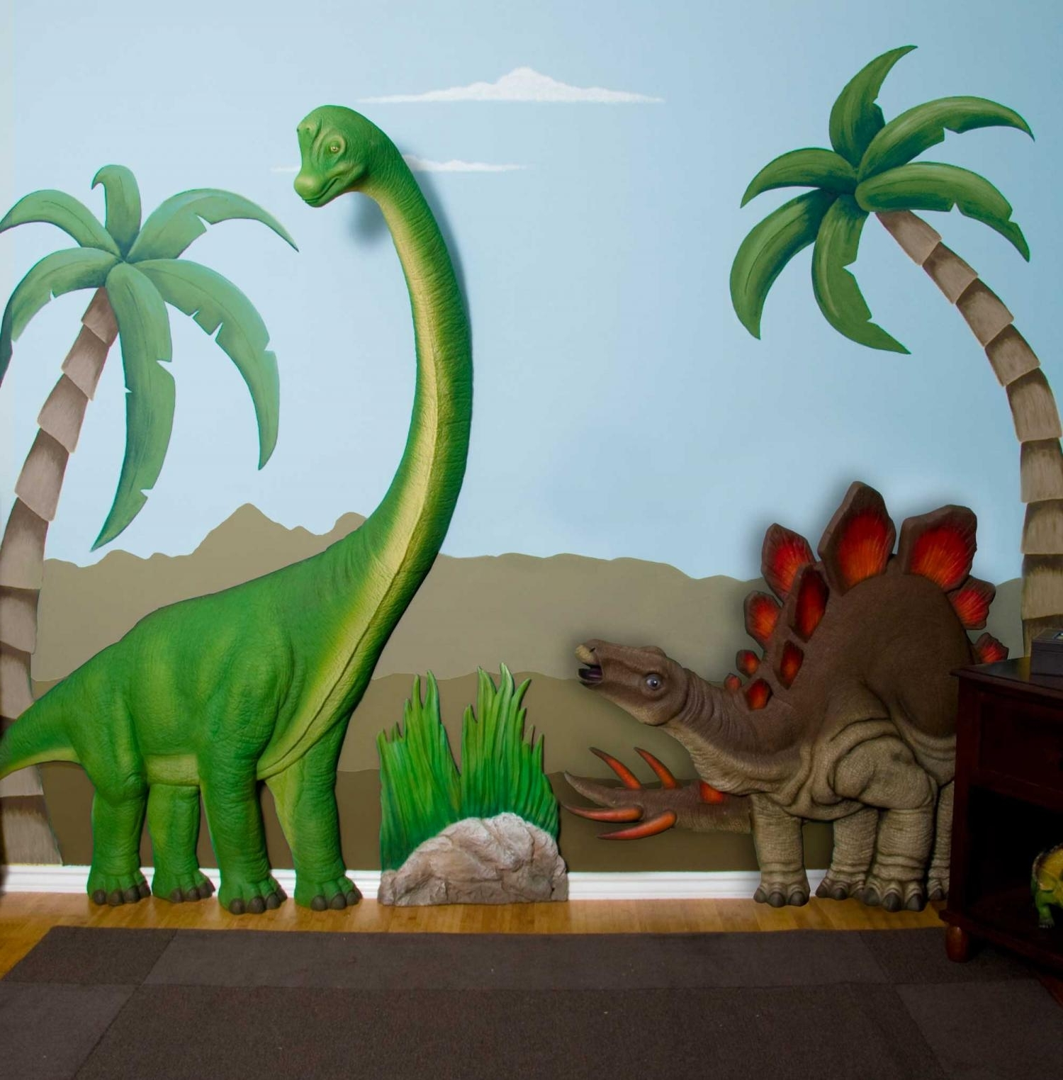 Featured Photo of Beetling Brachiosaurus Dinosaur 3D Wall Art