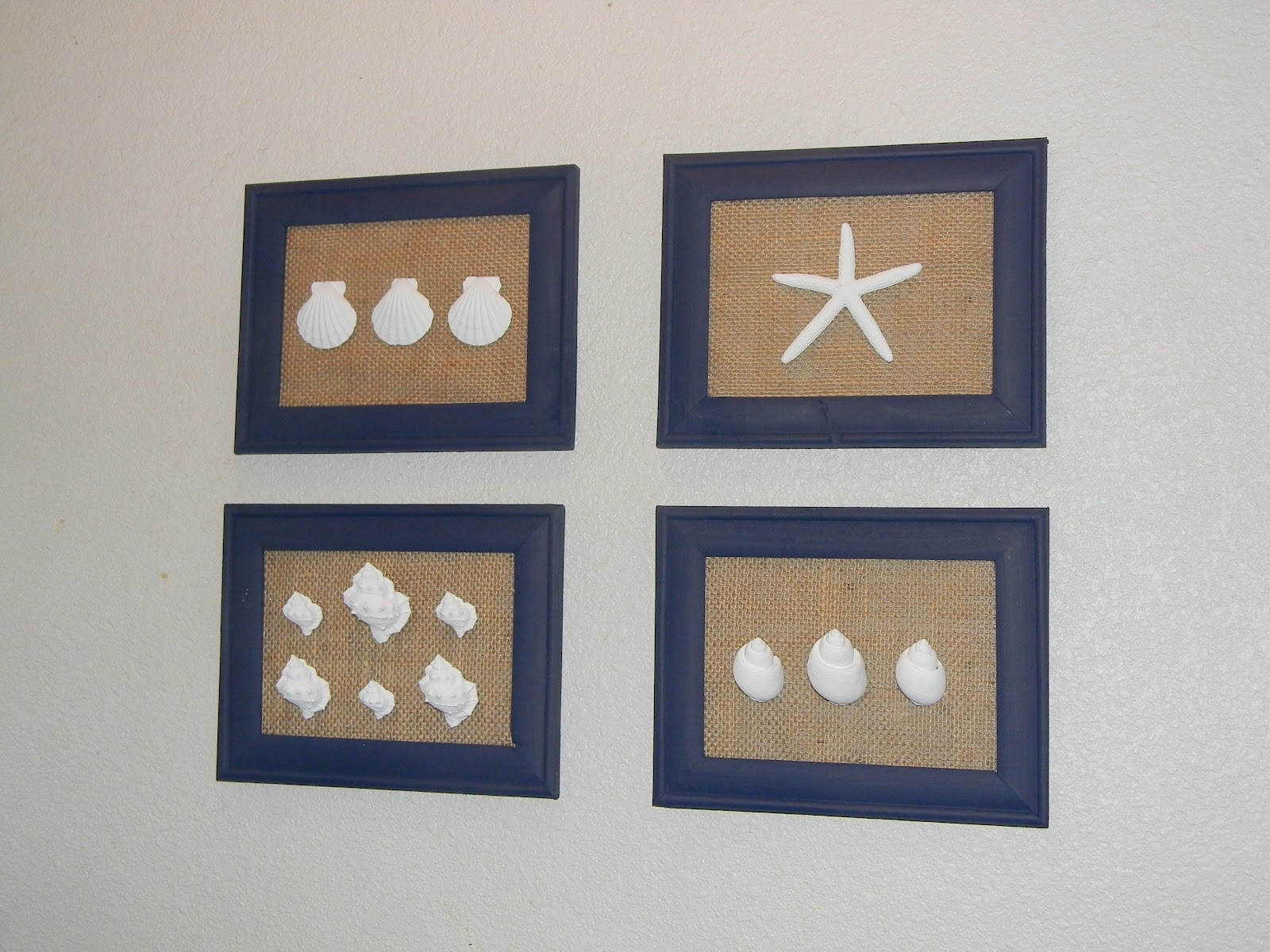 Current Brandy's Creations: Diy Sea Shell And Burlap Wall Art For Wall Art With Seashells (View 15 of 15)