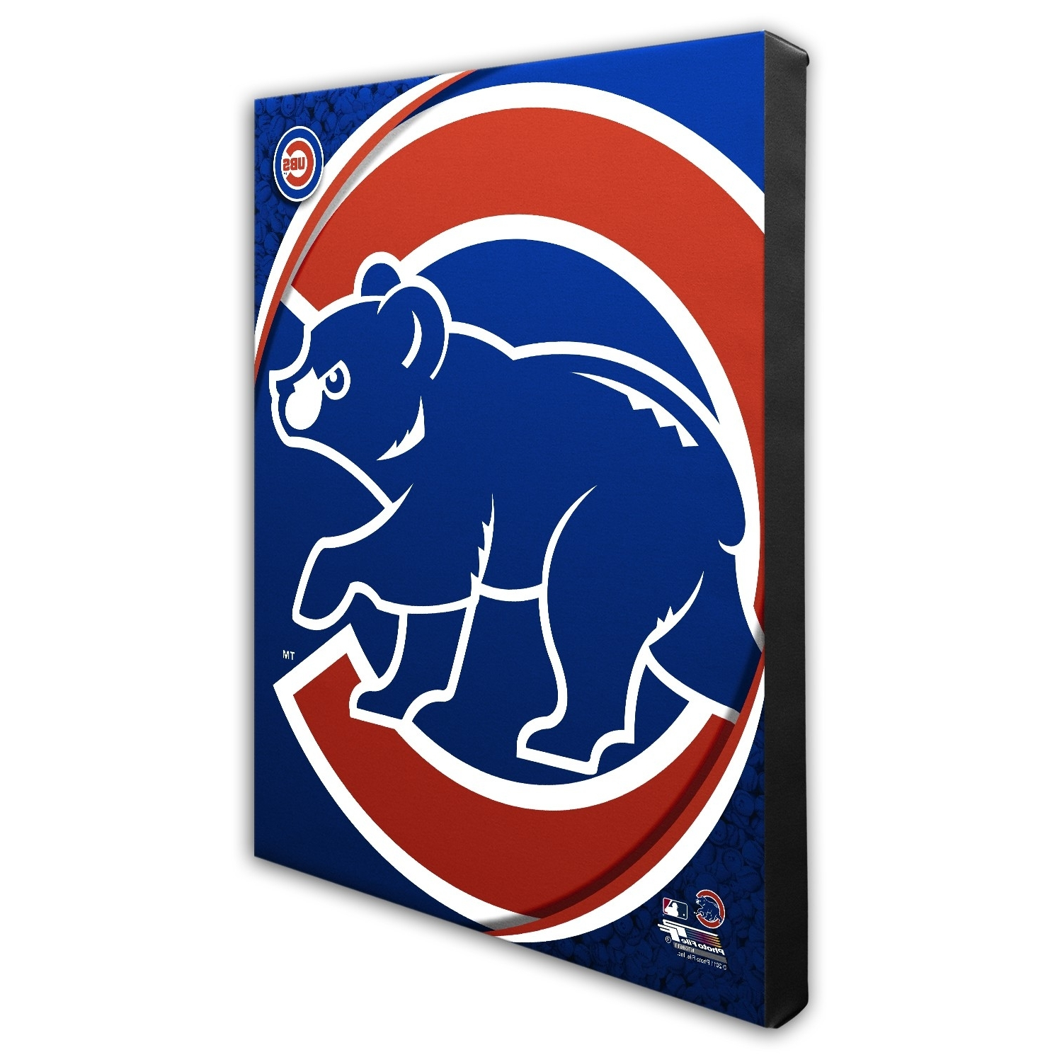 Current Chicago Cubs Wall Art For Chicago Cubs Logo Pop Art Canvas (View 4 of 15)