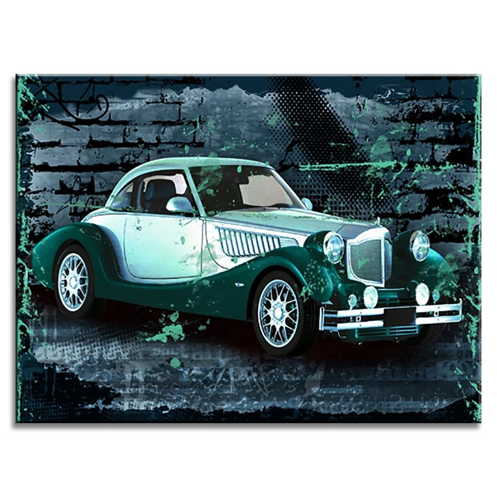 Current Classic Car Wall Art Within Brand New Still Life Canvas Painting Rolls Royce Classic Car (View 8 of 15)