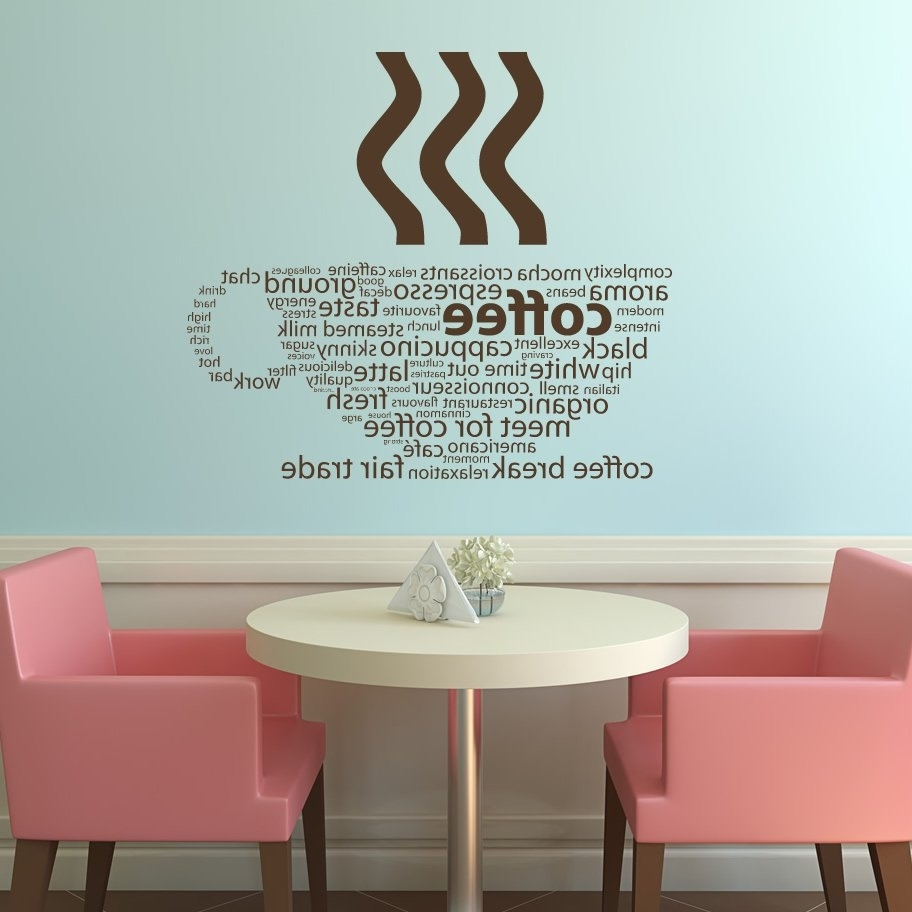 Current Coffee Bistro Wall Art Inside Wall Art Decor: Ebay Cafe Wall Art Uk Coffee Transfers Metal (View 9 of 15)