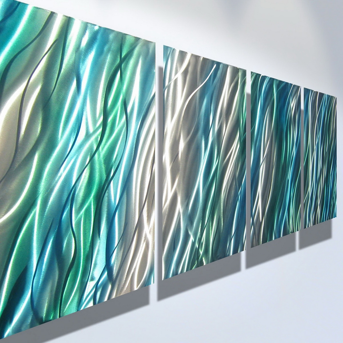 Current Contemporary Outdoor Wall Art Regarding Teal Wall Art At Home And Interior Design Ideas (View 9 of 15)
