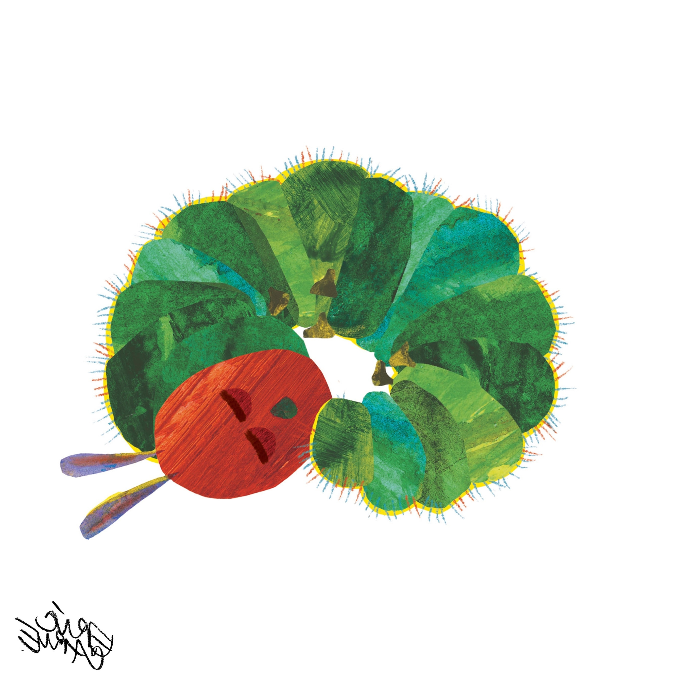 Current Eric Carle The Very Hungry Caterpillar Character Art Caterpillar 7 Pertaining To Eric Carle Wall Art (View 1 of 15)