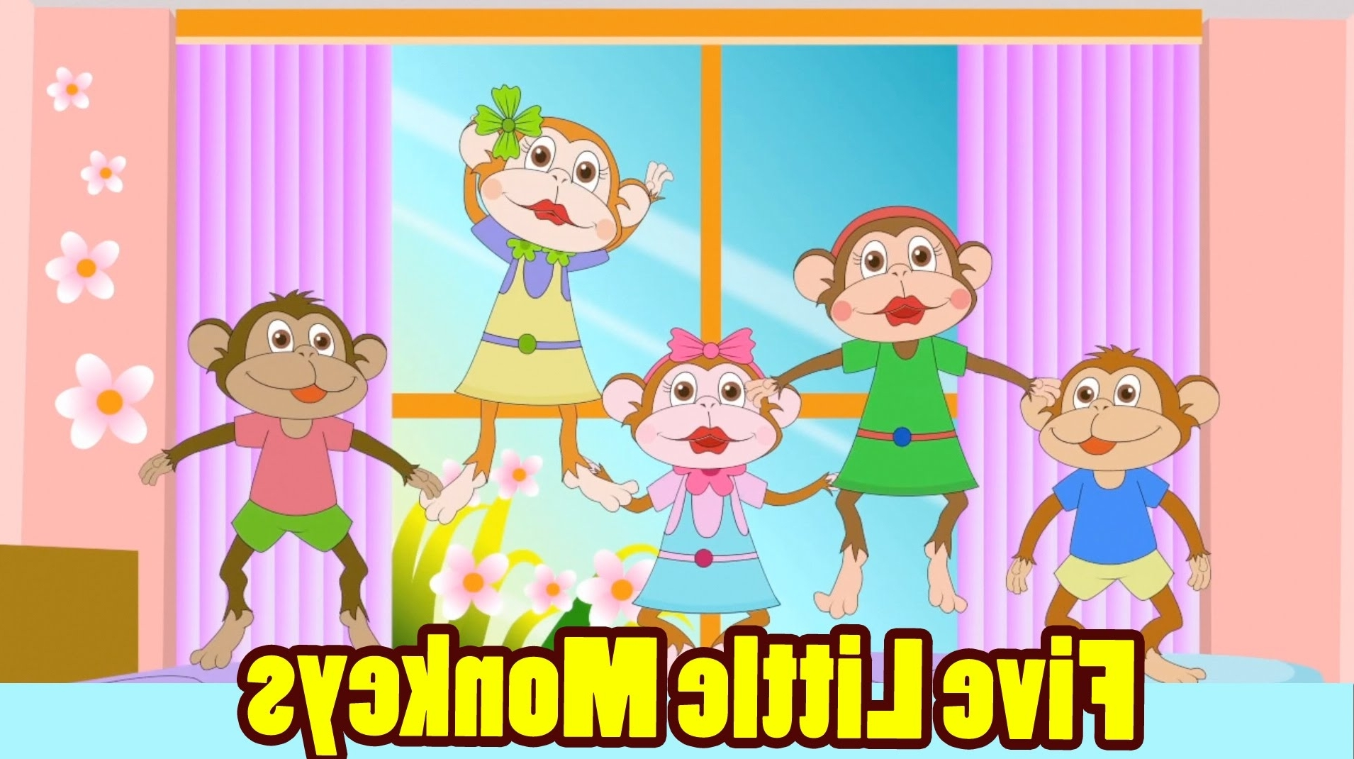 Current Five Little Monkeys Jumping On The Bed With Lyrics – Kids Songs With Regard To No More Monkeys Jumping On The Bed Wall Art (View 8 of 15)