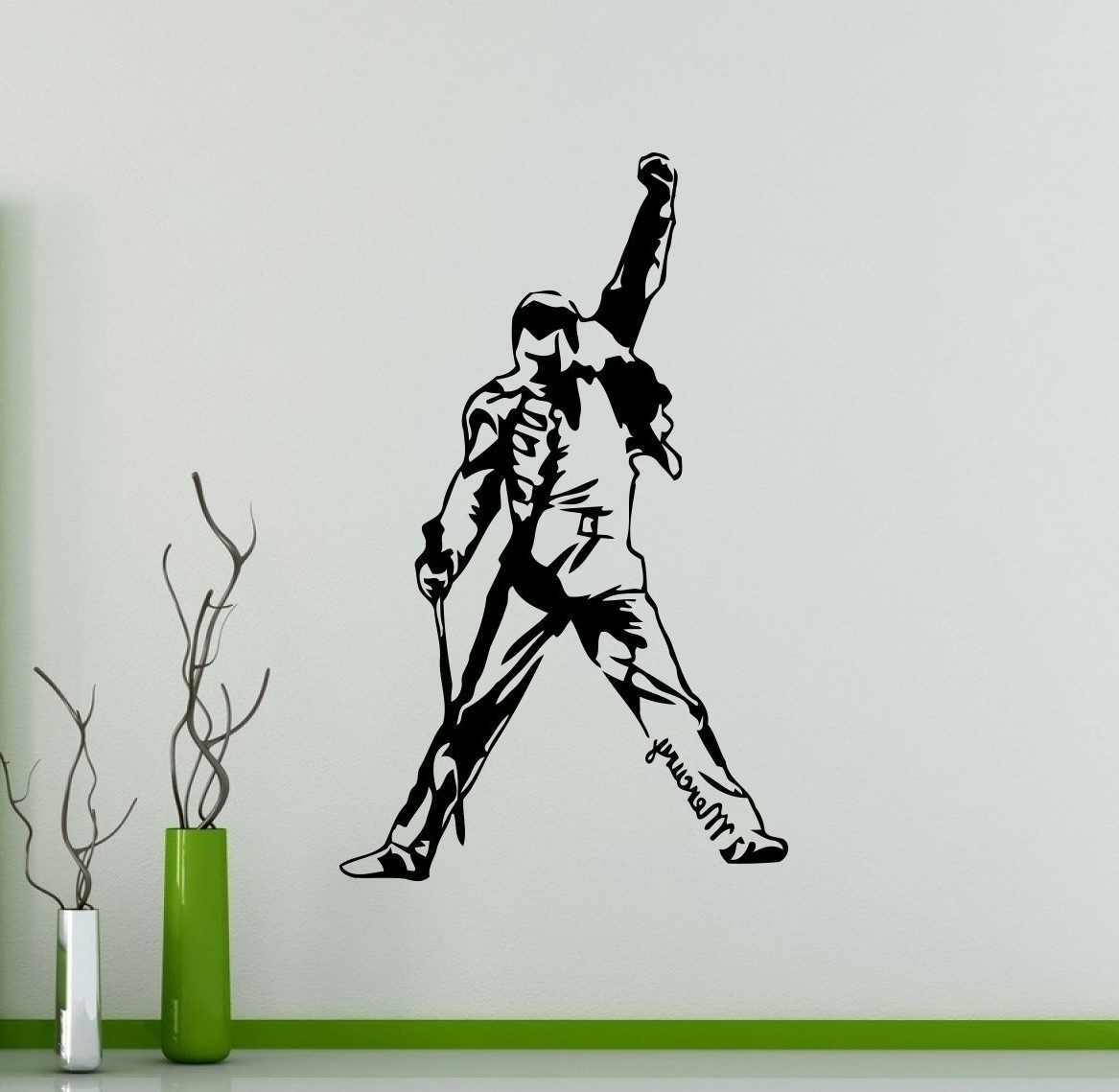 Current Freddie Mercury Wall Art With Regard To Freddie Mercury Wall Decal Queen Vinyl Sticker Rock Band Home (View 3 of 15)