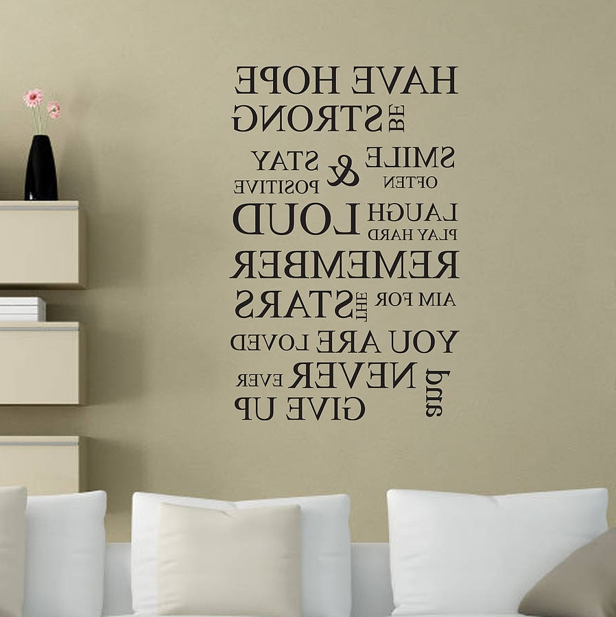Current Inspirational Wall Decals Removable (View 2 of 15)