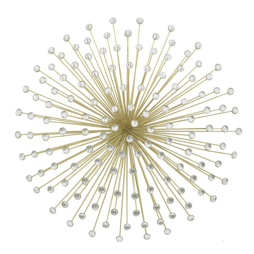 Current Jeweled Metal Wall Art With Three Hands Metal Gold Jeweled Sunburst Wall Decor 17574 – The (View 2 of 15)