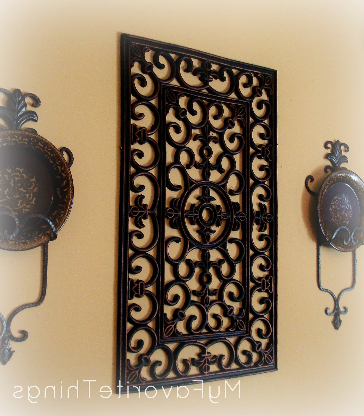 "Current Large Wrought Iron Wall Art Intended For My Favorite Things: ""wrought Iron"" Wall Art (View 2 of 15)"