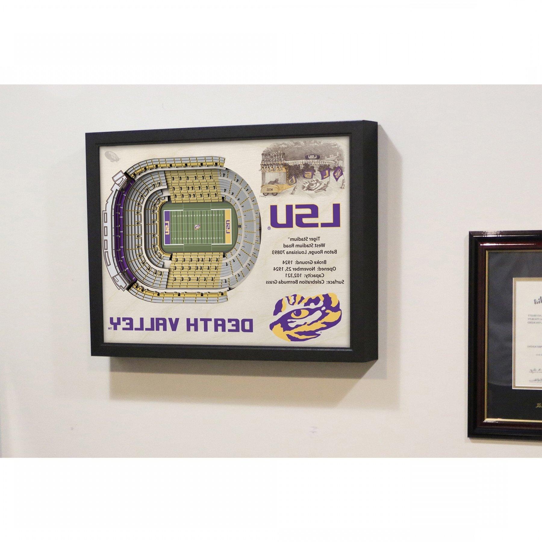 Current Lsu Tigers Stadiumview Wall Art – Tiger Stadium 3 D Reproduction For Lsu Wall Art (View 2 of 15)