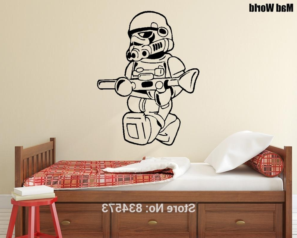Current Mad Men Wall Art Inside Mad World Storm Trooper Silhouette Kids Wall Art Stickers Wall (View 14 of 15)