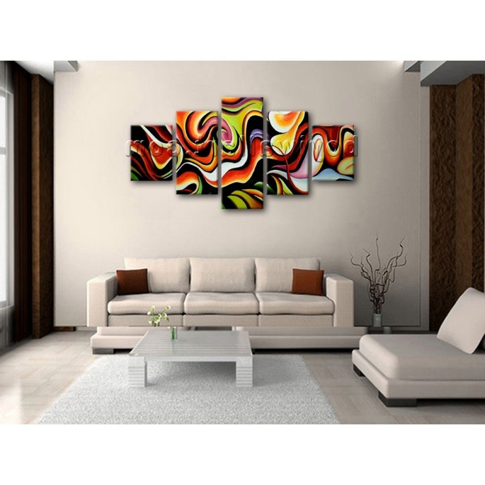 Current Modern Abstract Huge Wall Art Regarding Huge Wall Art Abstract Painting Home Decoration Ideas Canvas Print (Gallery 9 of 15)