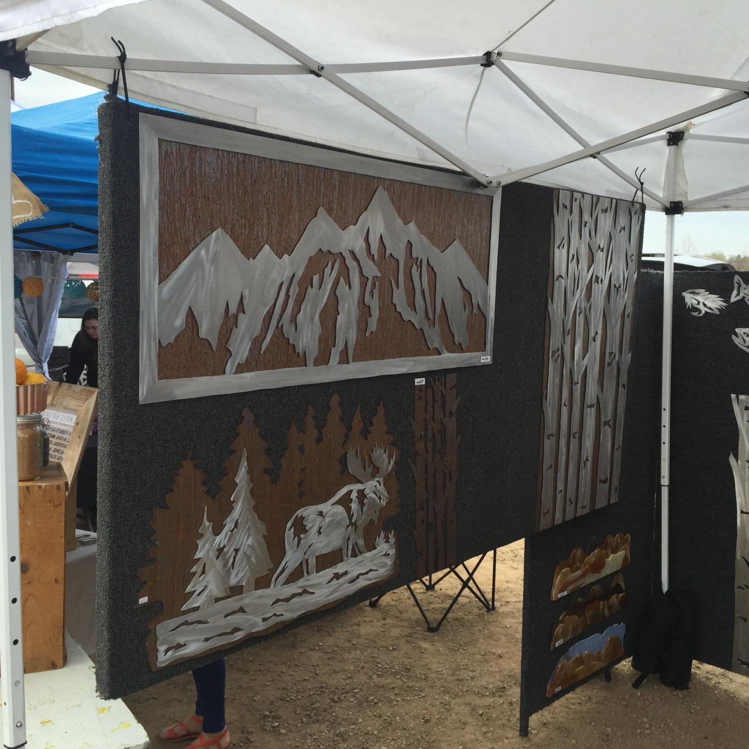 Current Mountain Decor. Metal Wall Art. Mountain Wall Mural (View 1 of 15)