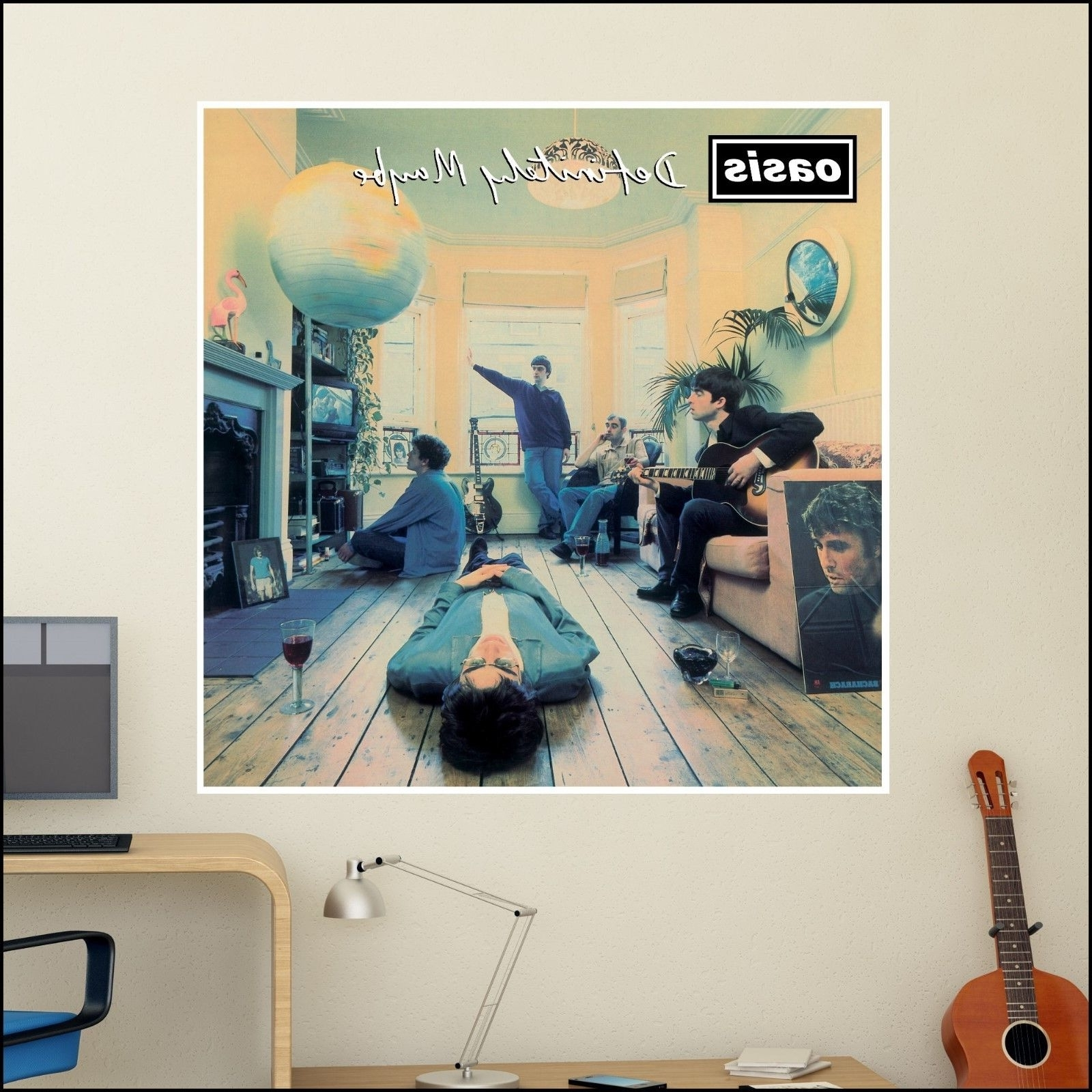 Current Oasis Definitely Maybe Album Cover Art Wall Sticker 6 Size Xl  (View 9 of 15)