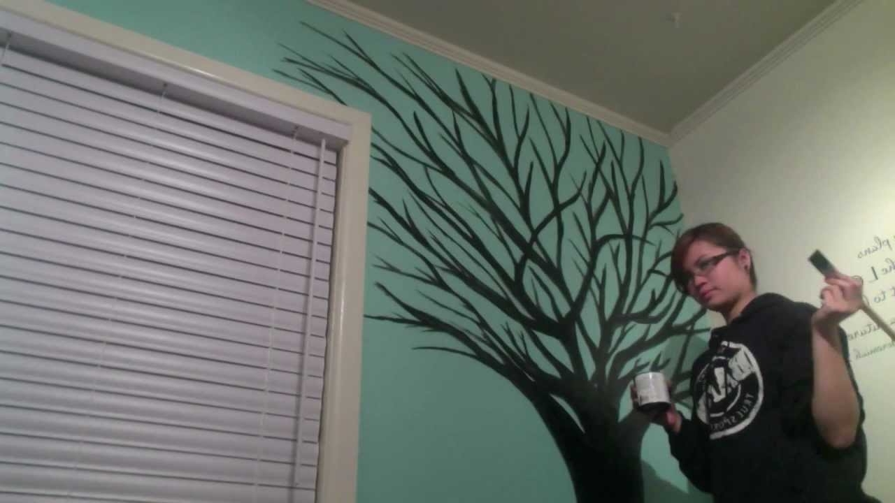 Current Painted Trees Wall Art Regarding Finally An Art Video. (View 3 of 15)