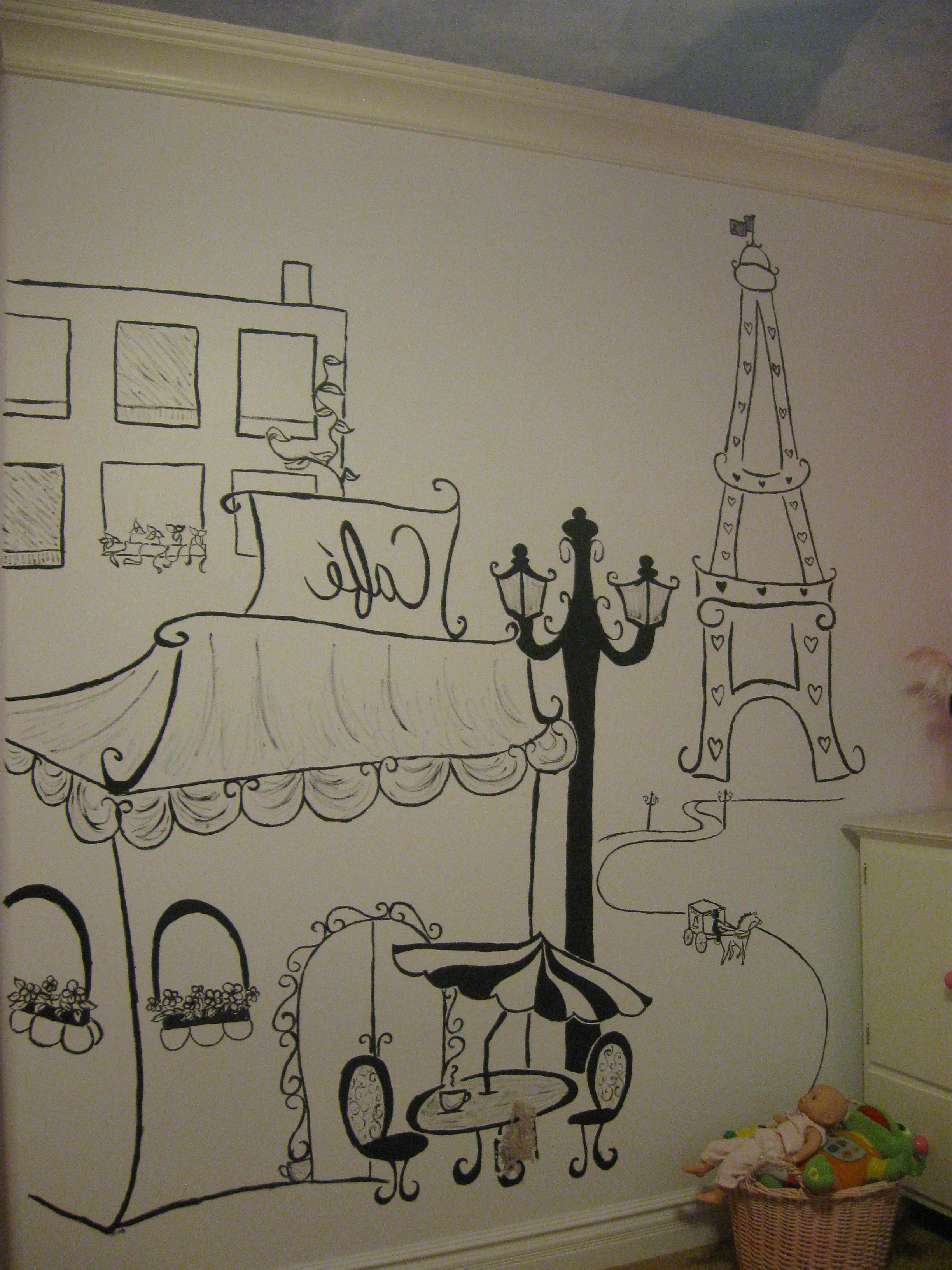 Current Paris Theme Wall Art In Drawn Wall Wall Art – Pencil And In Color Drawn Wall Wall Art (View 3 of 15)