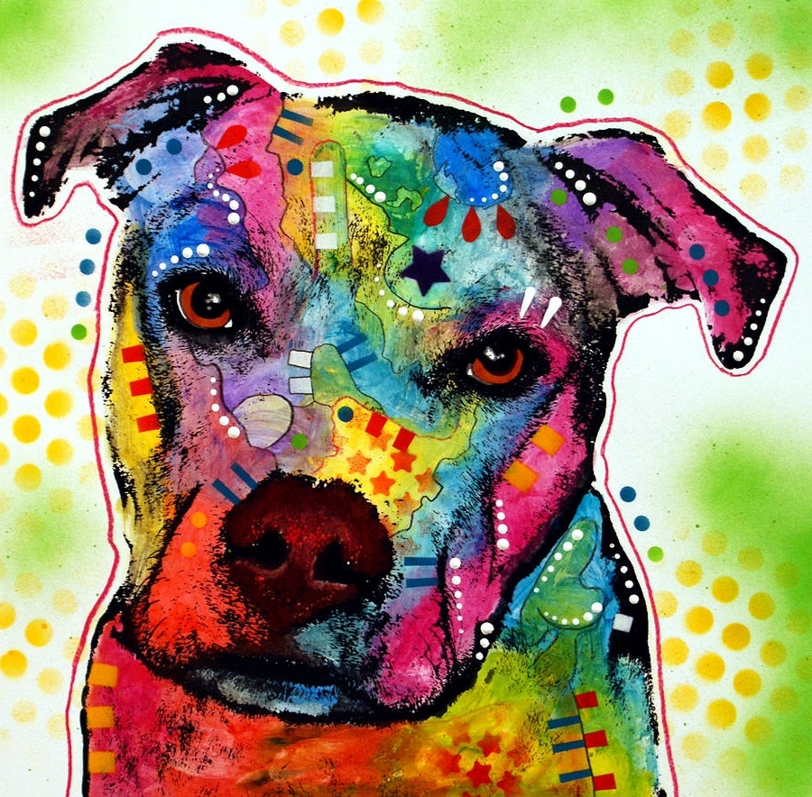 Current Pitbull Wall Art Intended For Pity Pitbull Canvas Print / Canvas Artdean Russo (View 4 of 15)