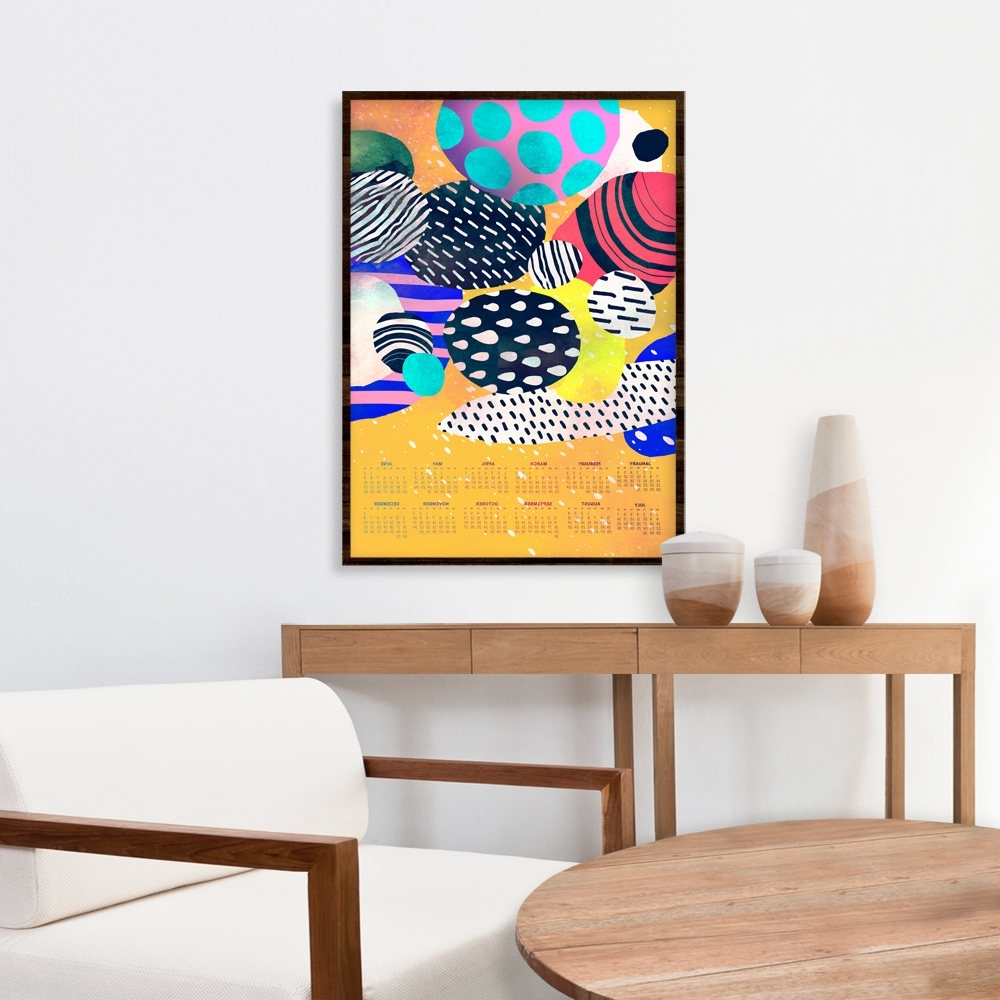 Current Poster Calendar 2018, Modern Calendar, Unique Calendar, Abstract Regarding Abstract Calendar Art Wall (View 6 of 15)