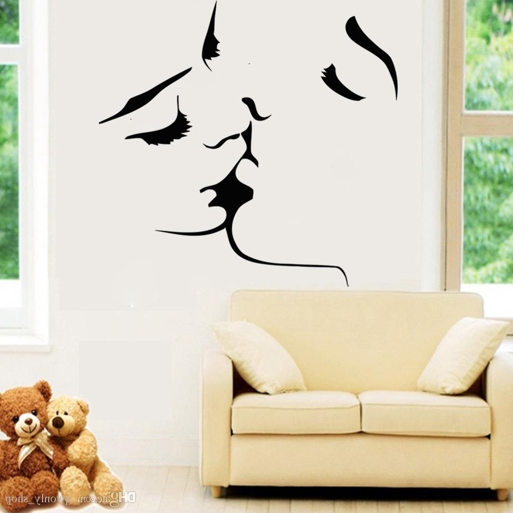 Current Sexy Love Kiss Vinyl Wall Stickers On The Walls Bedroom Wedding Inside Vinyl 3D Wall Art (View 1 of 15)