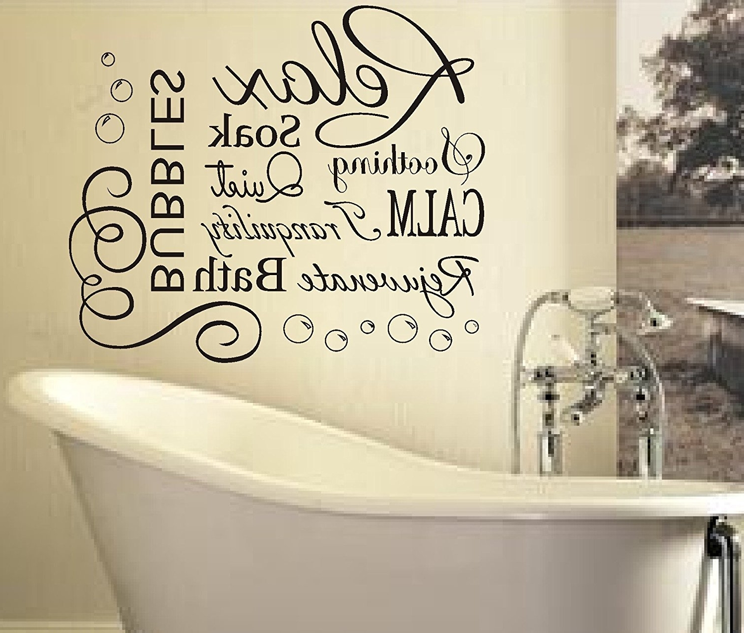 Current Shower Room Wall Art With Regard To Marvelous Bathroom Vinyl Stickers (View 4 of 15)