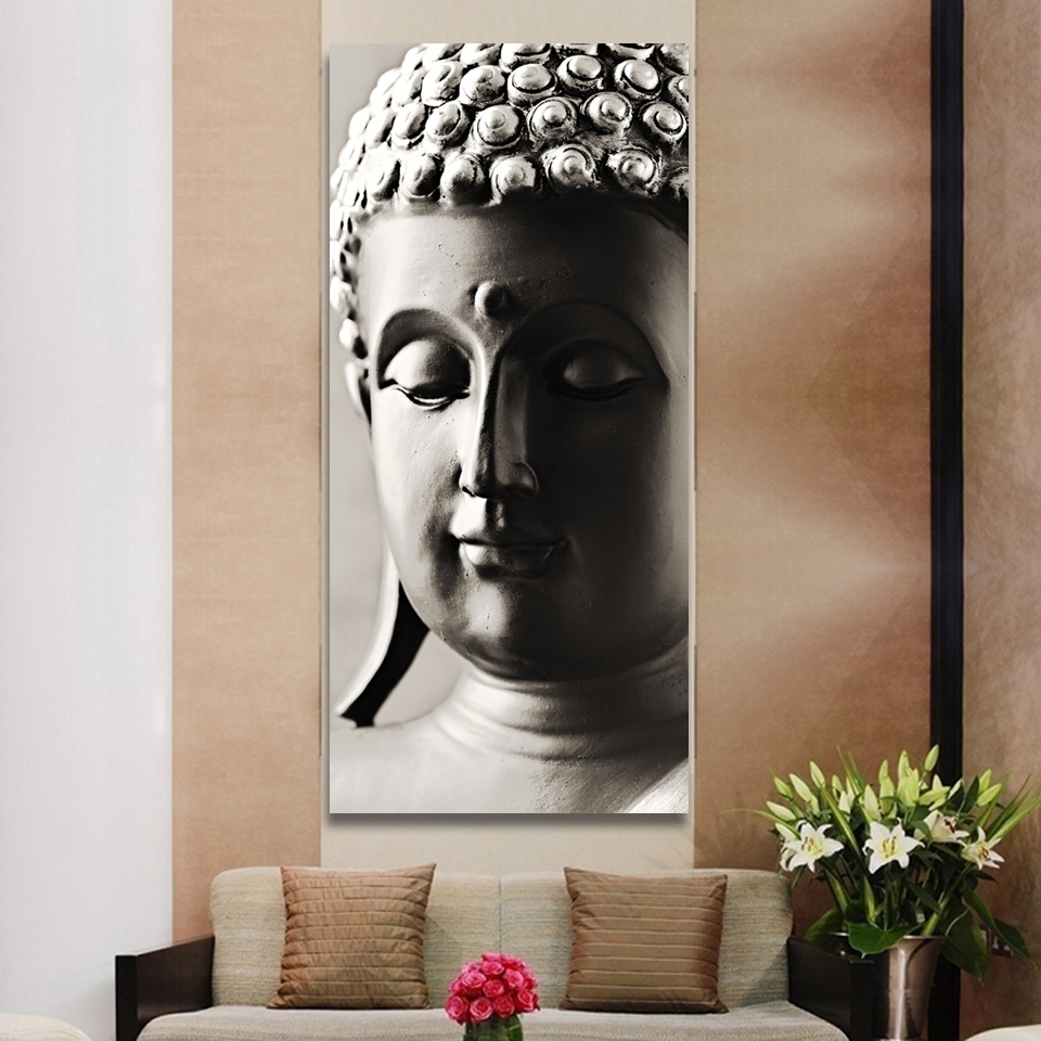 Current Special Chinese Styles Painting Silver Buddha Painting 3 Panels Throughout Silver Buddha Wall Art (View 3 of 15)