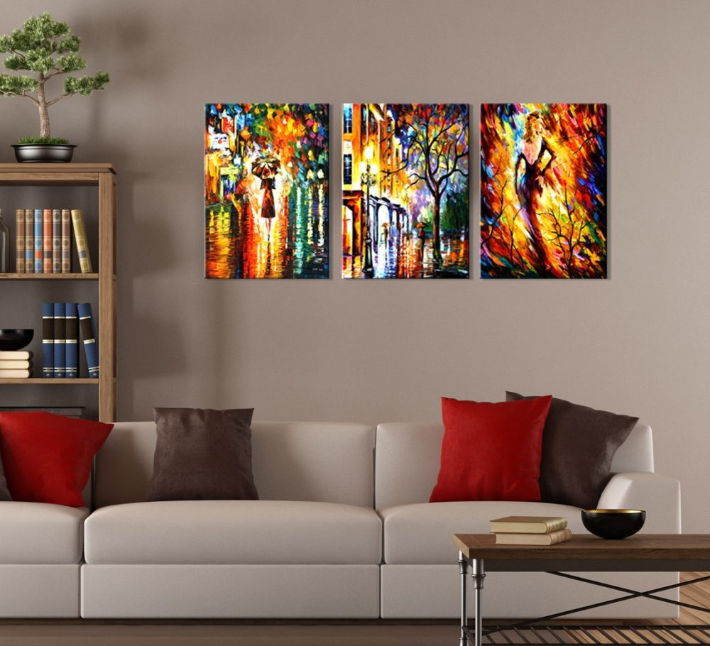 Current Strikingly Inpiration Three Piece Wall Art Large Canvas Sets Inside 3 Piece Wall Art Sets (View 6 of 15)