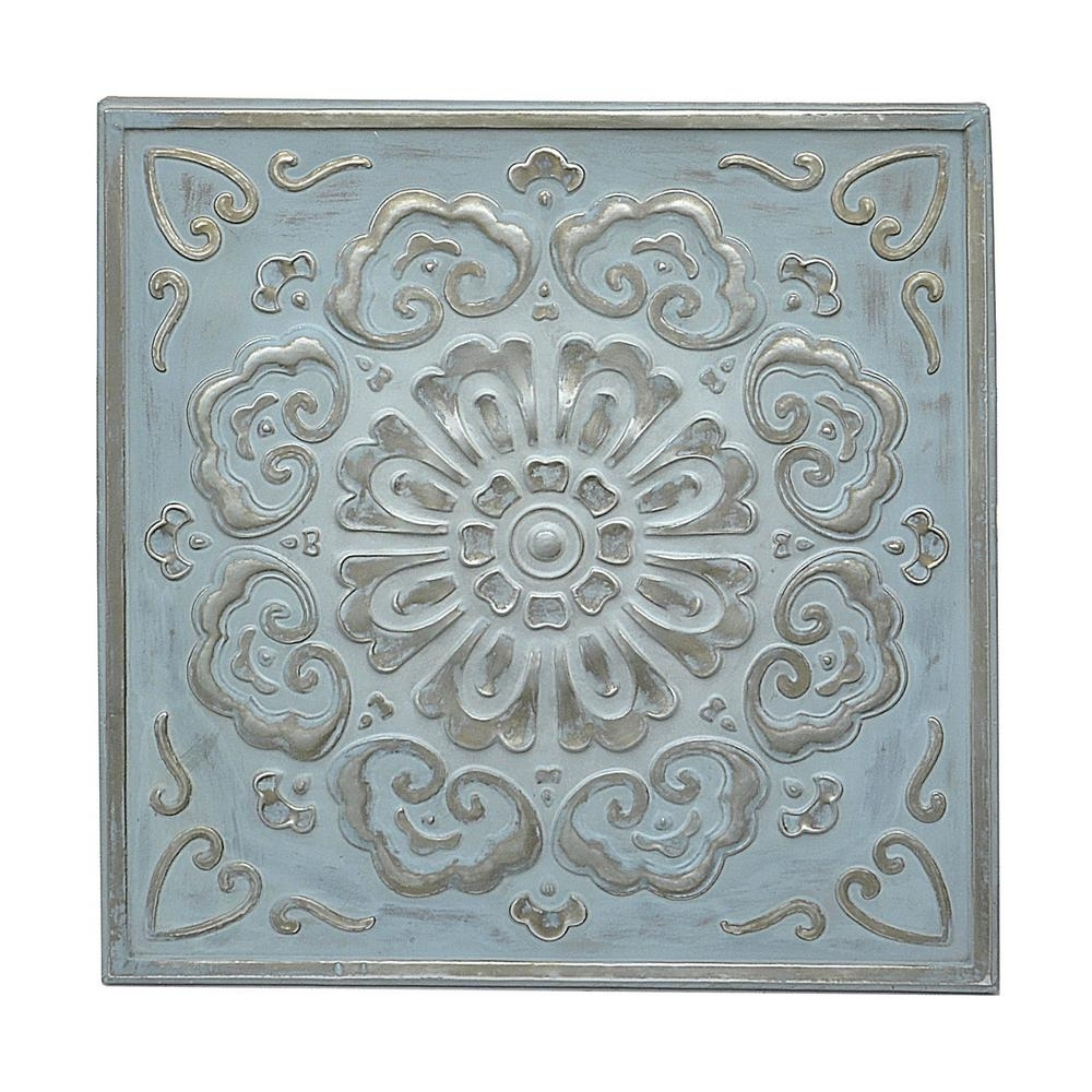 Current Three Hands Square Medallion Wall Art 57523 – The Home Depot Inside Metal Medallion Wall Art (View 3 of 15)