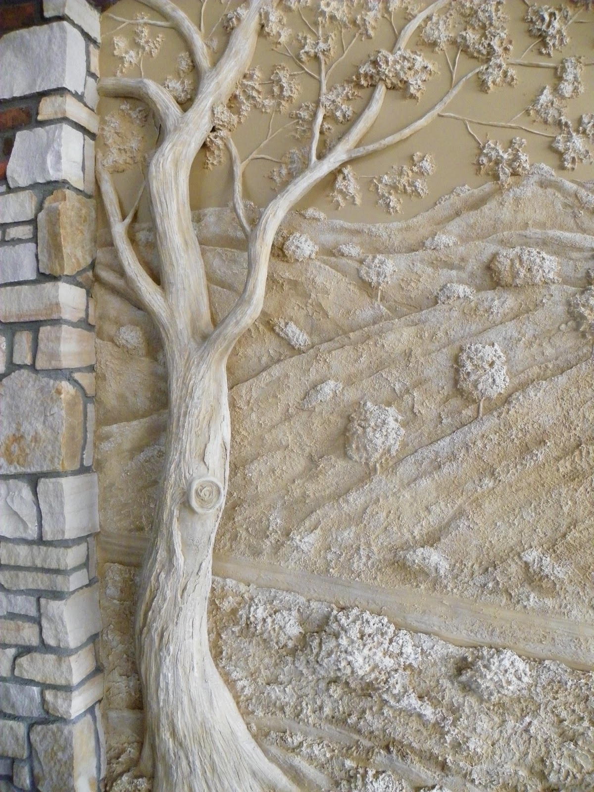 Current Tree Sculpture Wall Art Within Inspiration – Joint Compound Wall Sculpture Fabulous! (View 8 of 15)
