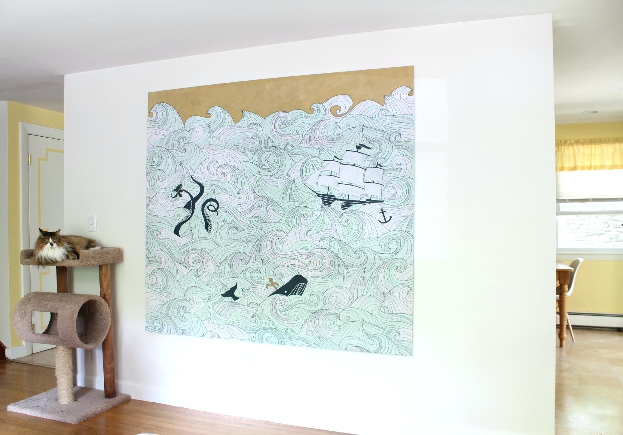 Current Turn Pictures Into Wall Art With Decoration: Diy Fabric Wall Art (View 5 of 15)