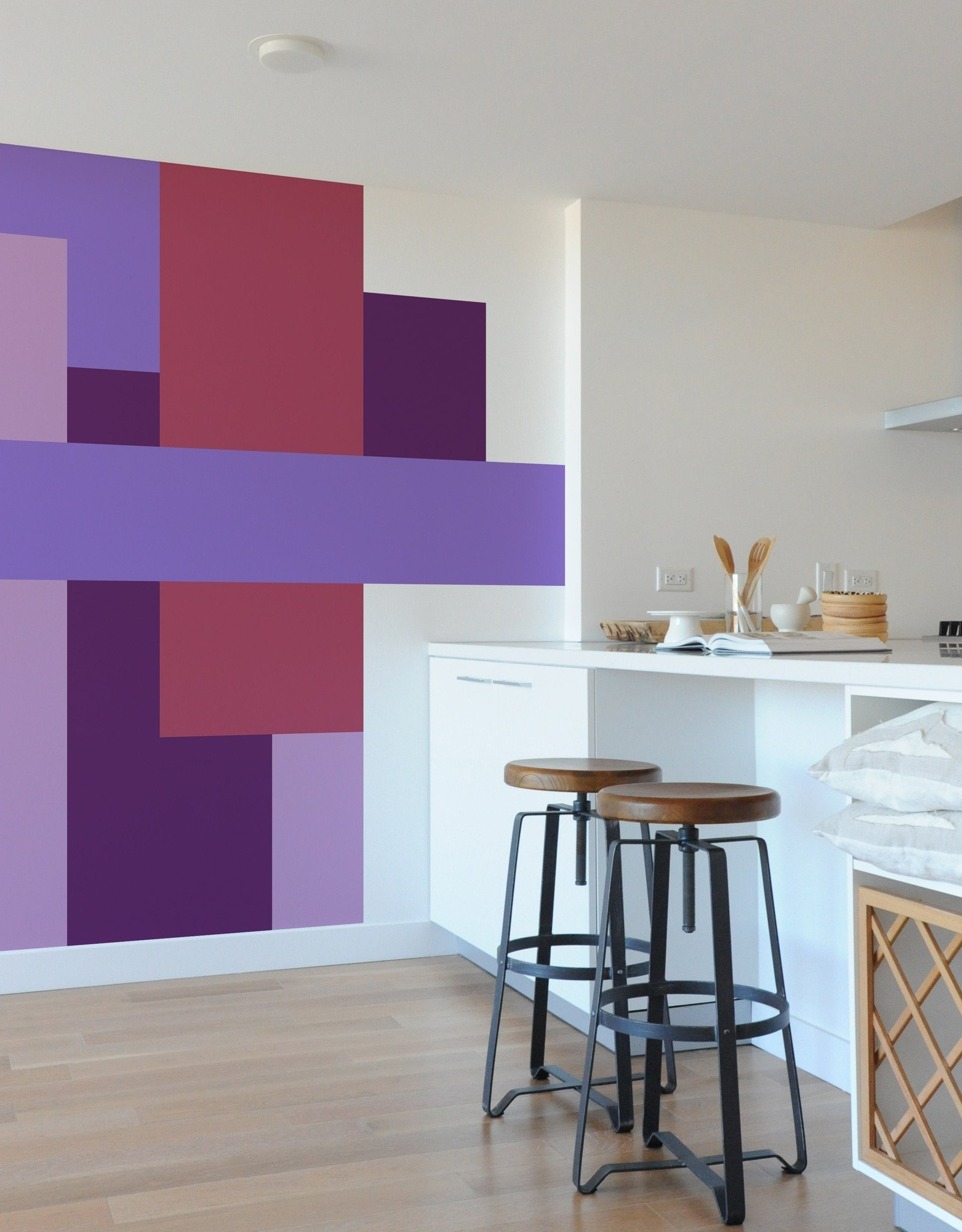 Current Unbelievable Color Block Wall Art Self Adhesive Vinyl Stickers Regarding Blik Wall Art (View 8 of 15)