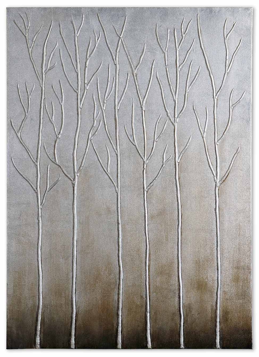 Current Uttermost Sterling Trees Hand Painted Art 35105 Regarding Painted Trees Wall Art (View 4 of 15)