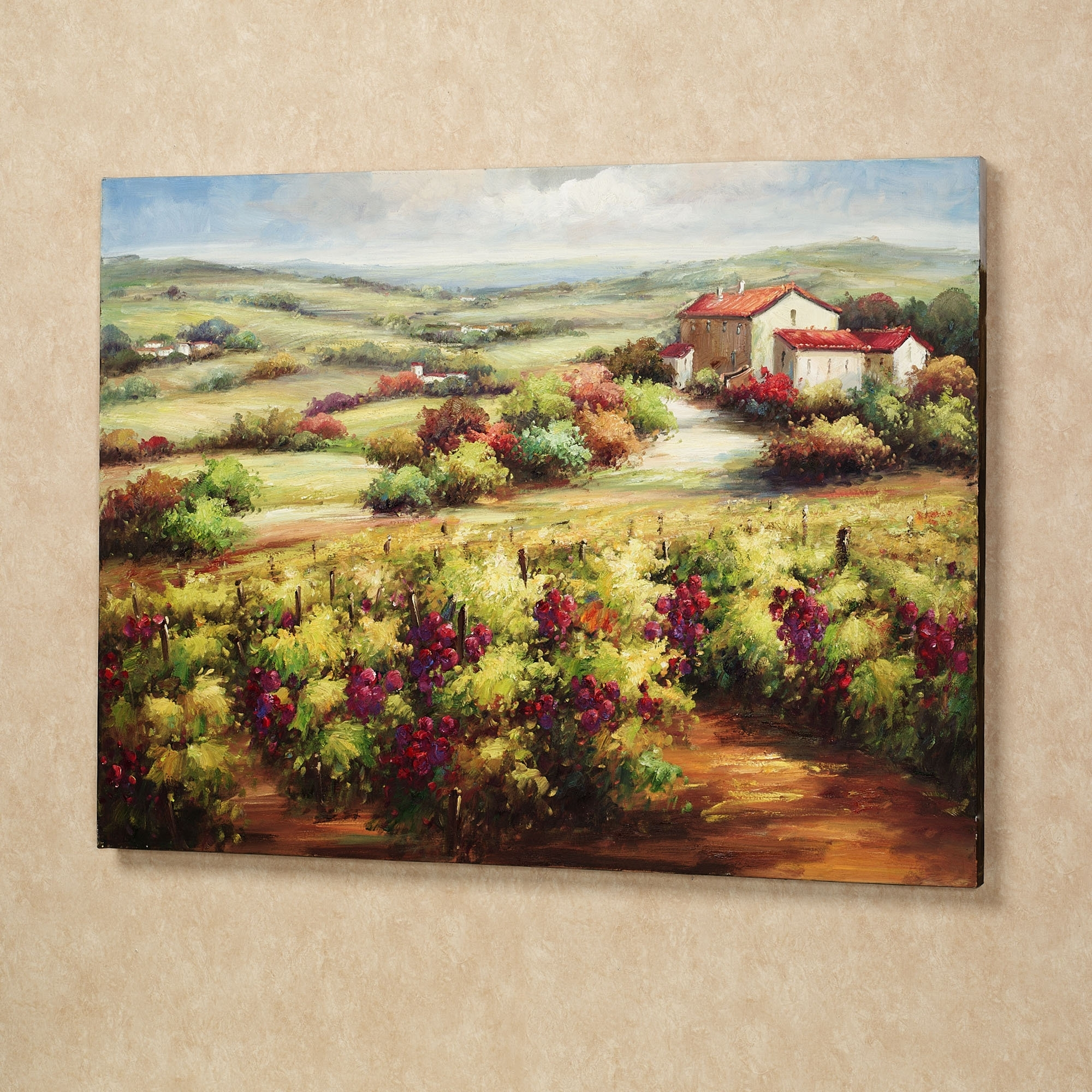 Current Vineyard Wall Art Throughout Wall Art Designs: Terrific Vineyard Wall Art Wine Decor Kitchen (View 3 of 15)