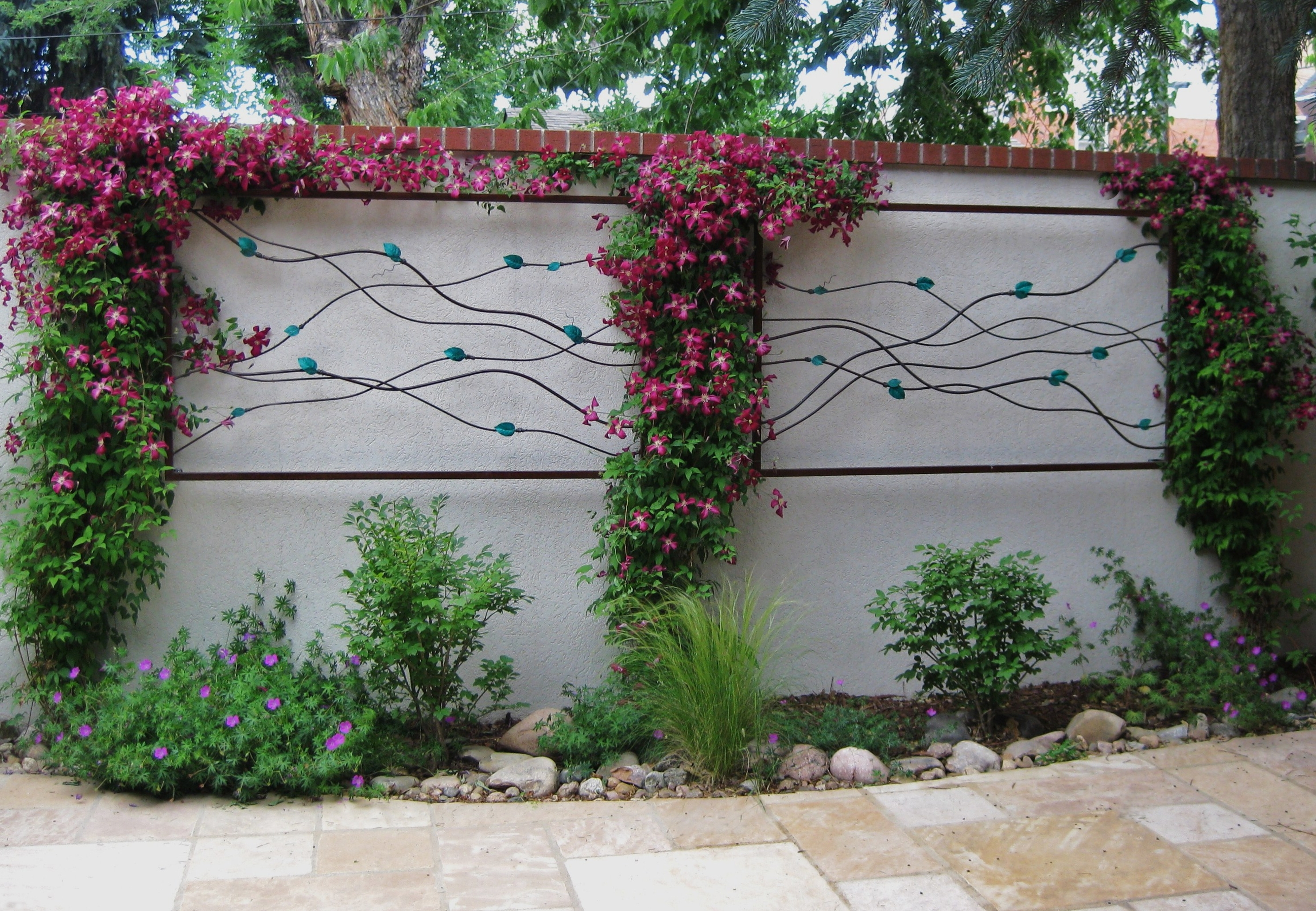 Current Wall Art Designs: Garden Wall Art Framed Art With Leaves Flower Throughout Outside Wall Art (View 2 of 15)
