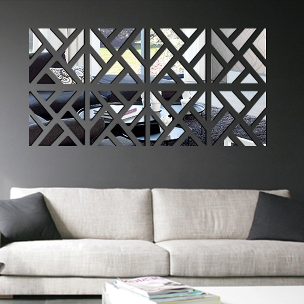 Current Wall Art Designs: Mirrored Wall Art Modern Mirror Stick Diy Within Diy Mirror Wall Art (View 2 of 15)