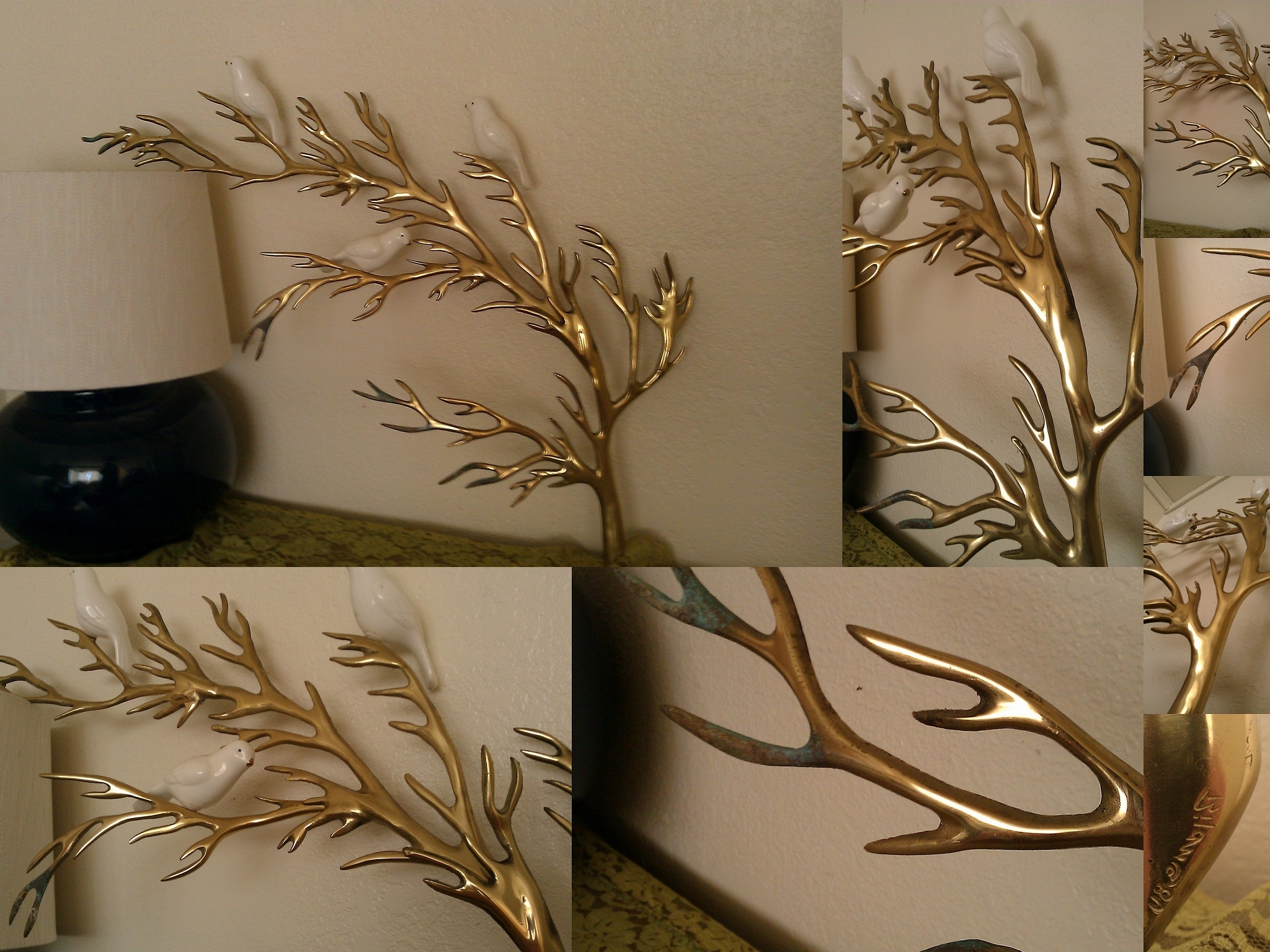 Current Wall Art Designs: Wall Art Sculpture Rare Vintage Bijan Brass Tree Intended For Tree Sculpture Wall Art (View 5 of 15)