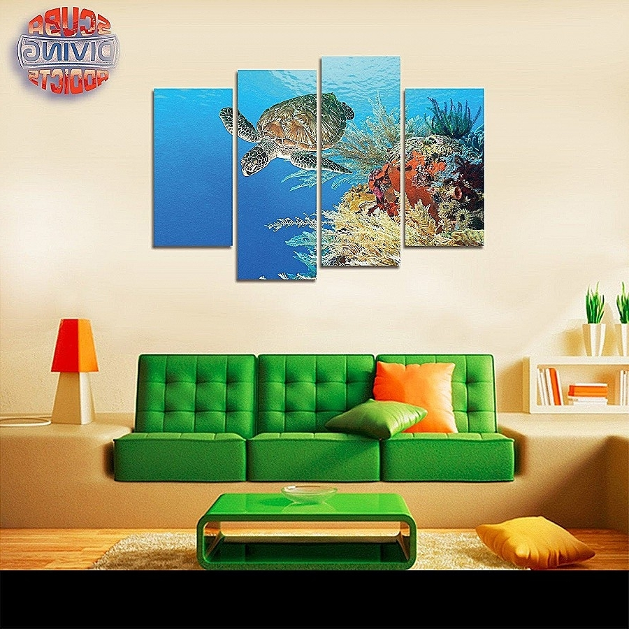 Current Wall Art Elegant Orange And Turquoise Wall Art High Definition With Regard To Orange And Turquoise Wall Art (View 2 of 15)