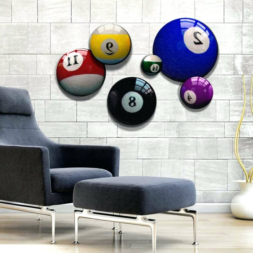 Current Wall Arts ~ Pool Ball Wall Art Billiard Ball Wall Art Dark Media Pertaining To Billiard Wall Art (View 6 of 15)