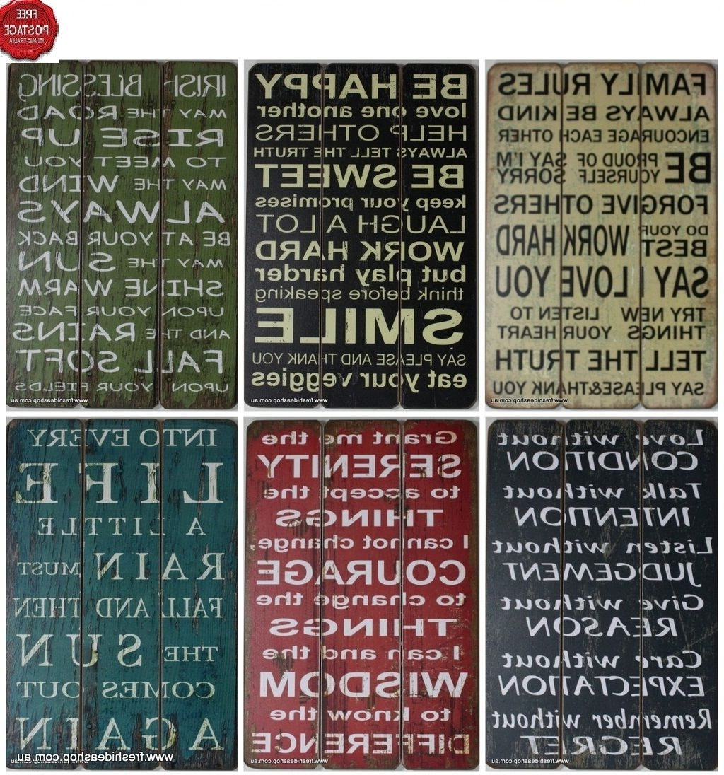 Current Wooden Words Wall Art In Wall Art Design Ideas: Combination Word Plaques Wall Art Multi (View 12 of 15)