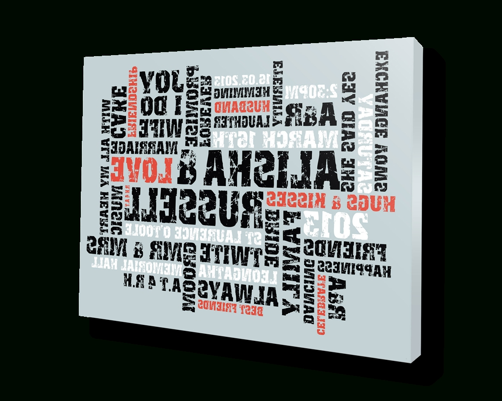 Custom Canvas Art With Words In Fashionable Personalised Canvas Prints With Words – Beyond A Word (View 7 of 15)