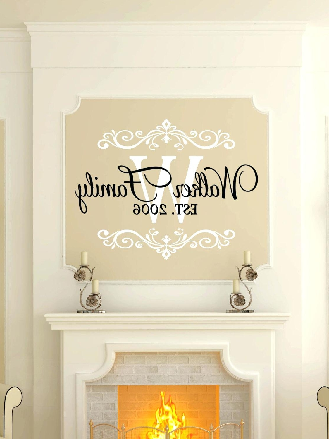 Custom Last Name Wall Art Regarding Widely Used Wall Decal Initials Wall Ideas Initial Wall Art Personalized Tree (View 4 of 15)