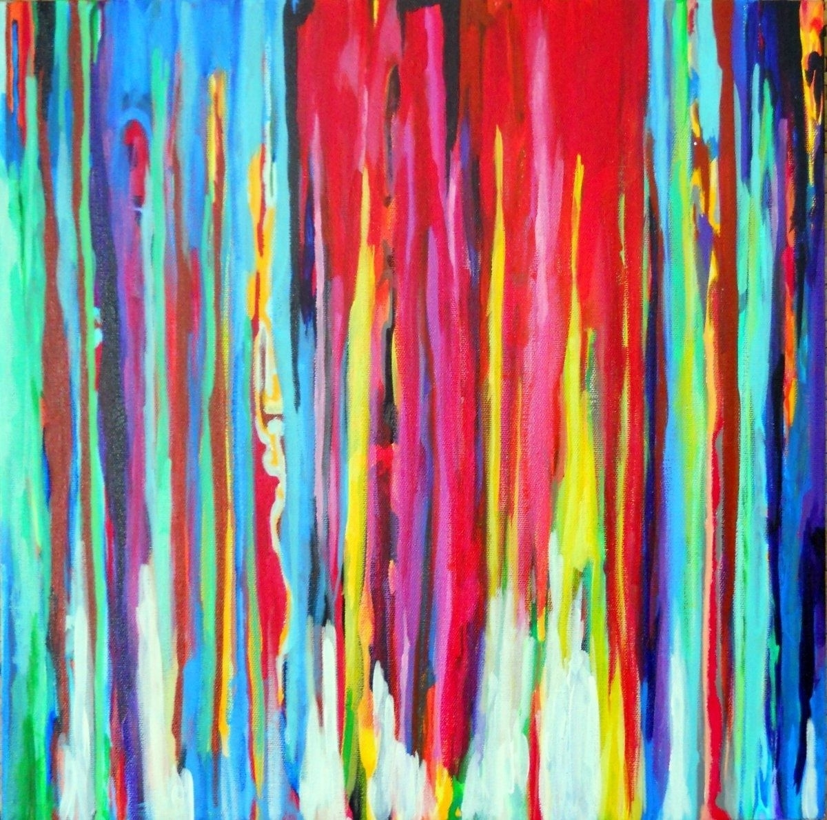 Custom Made Neon Abstract Acrylic Paintingprecious Beast For Trendy Abstract Neon Wall Art (View 4 of 15)