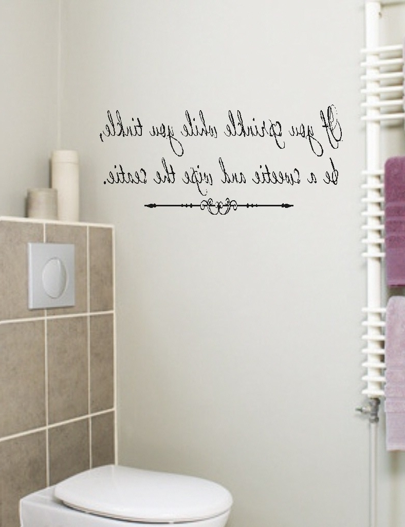 Cute Quotes For Walls Bathroom Wall Art Sayings (View 4 of 15)