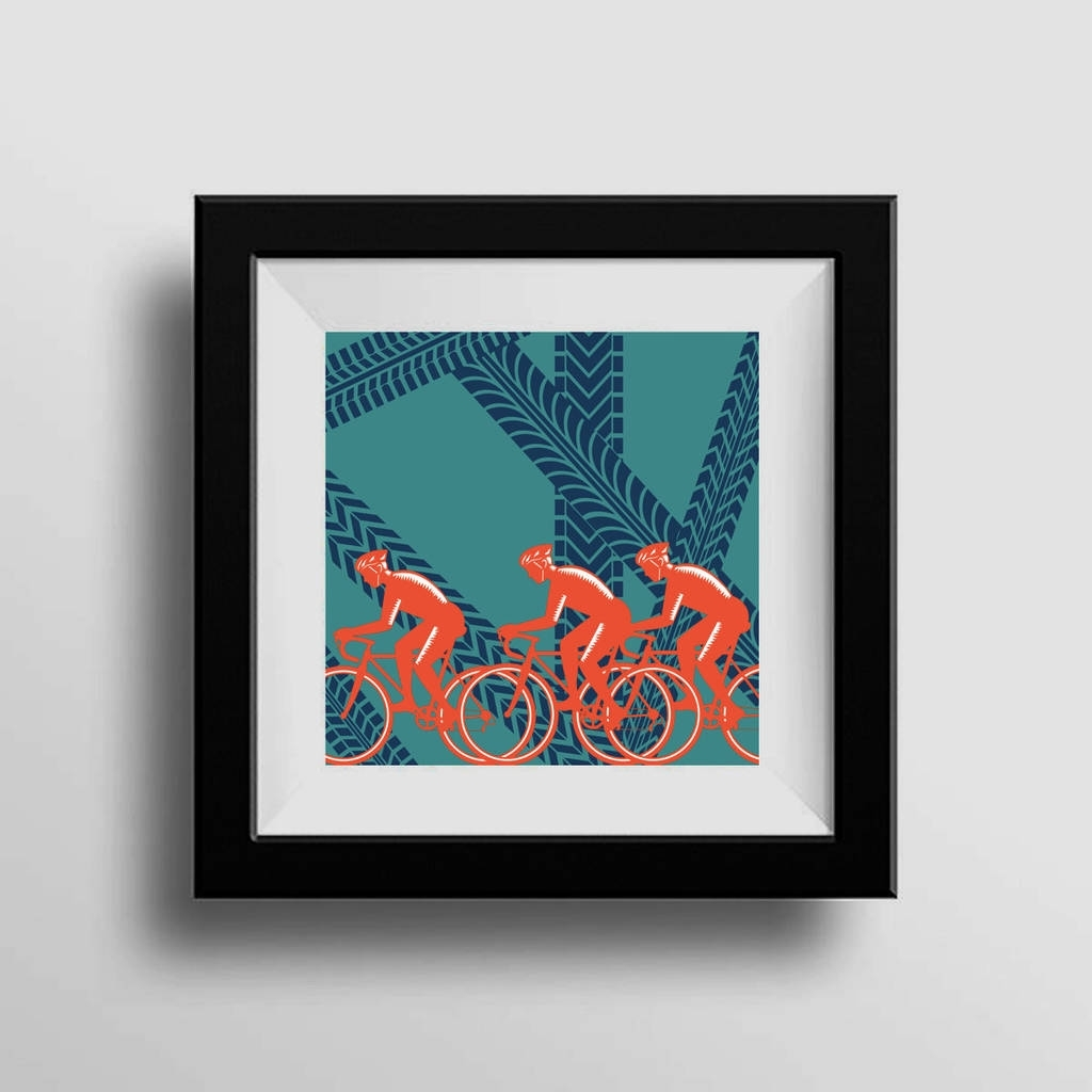 Cycling Wall Art Print Christmas Gifthedge And Hog Prints Throughout Preferred Cycling Wall Art (View 5 of 15)