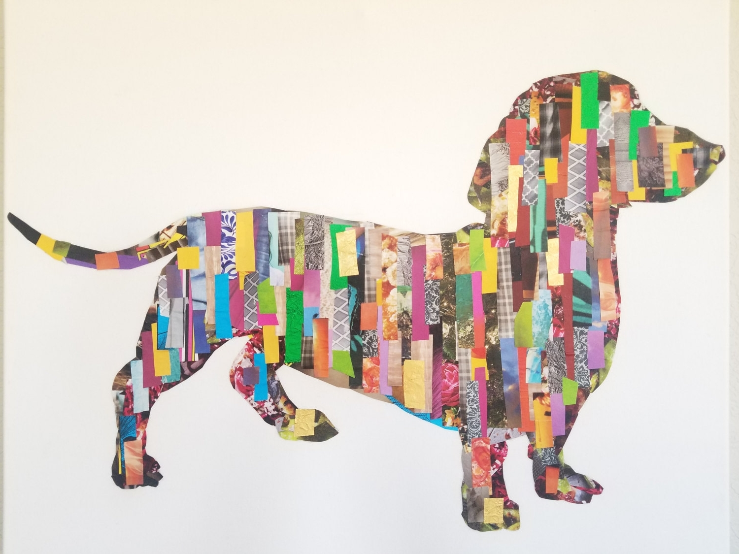 Dachshund Decoupage Wall Art Throughout Most Recently Released Dachshund Wall Art (Gallery 7 of 15)