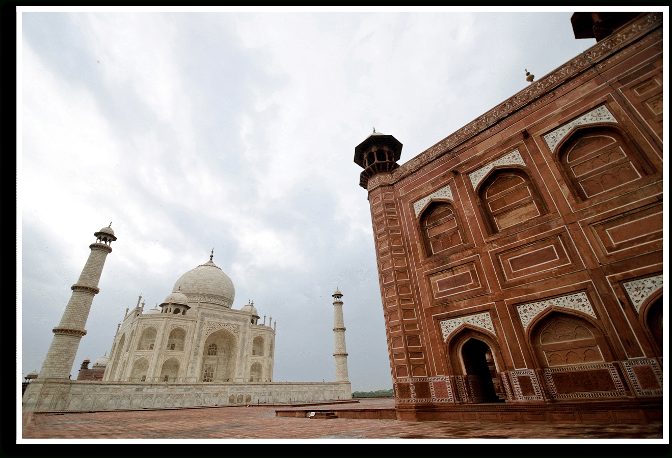 Dailyobjects Taj Mahal Perspective Small Wall Art Print Small Intended For Famous Taj Mahal Wall Art (View 1 of 15)