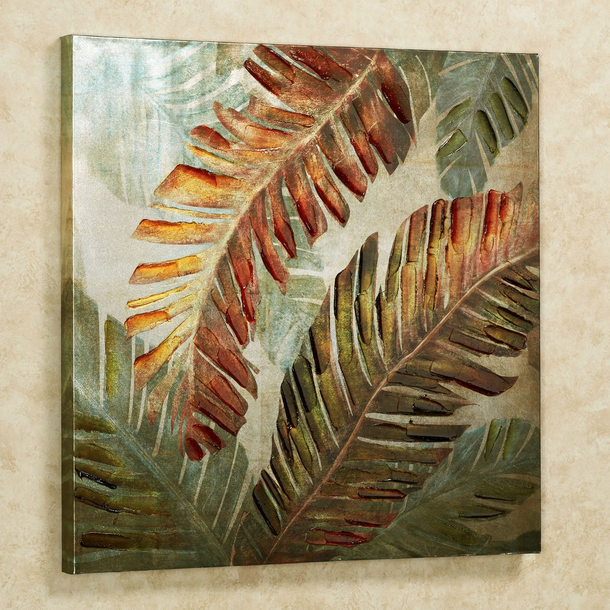 Dancing Palms Tropical Canvas Wall Art Intended For Trendy Tropical Outdoor Wall Art (View 1 of 15)
