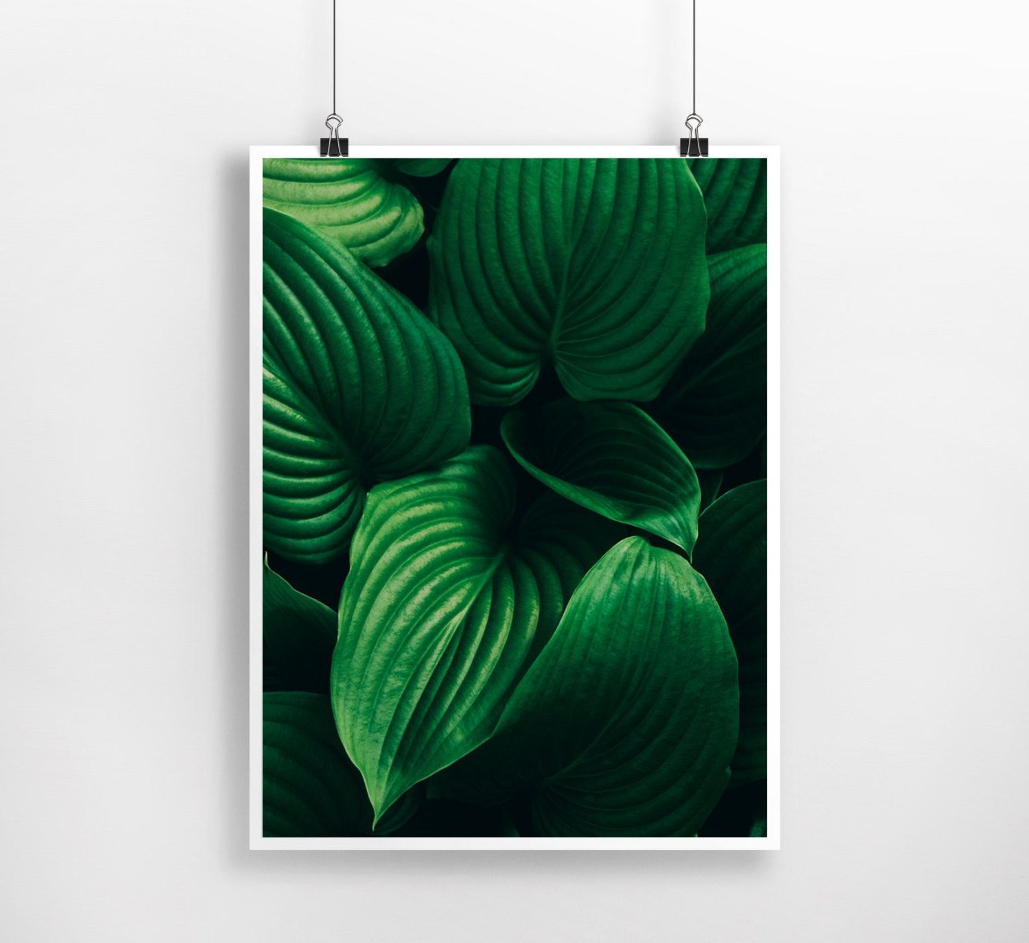Dark Green Plants Instant Download Digital Print , Minimal, Nature For 2017 Large Green Wall Art (View 1 of 15)